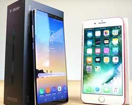 苹果iPhone 7 Plus和三星Note 8的速度对比