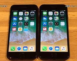iOS 11.1Beta与11.0.1比速度 提升不明显