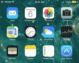插件Snoverlay:给越狱iPhone添加雪花特效