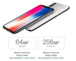 抢占圣诞市场:苹果iPhone X多地开启次日送达