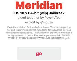 iOS10~10.3.3越狱工具Meridian越狱教程