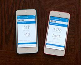 实测降频苹果iPhone换电池前后跑分性能翻倍