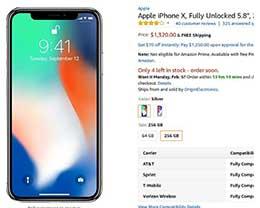 如何从美国下单256G的苹果iphone x?