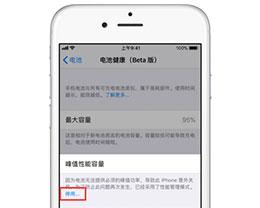iOS 11.3降频功能开关在哪?