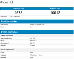 苹果神秘iPhone性能曝光:A11+4GB内存