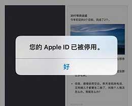 Apple ID 已被停用或锁定的解决办法
