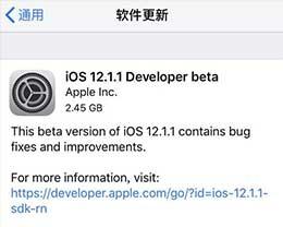 iOS12.1.1 beta更新了哪些内容?更新iOS12.1.1 beta方法
