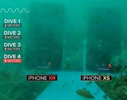 极限测试:iPhone XS/XR 沉8米海底30分钟,结果会如何?