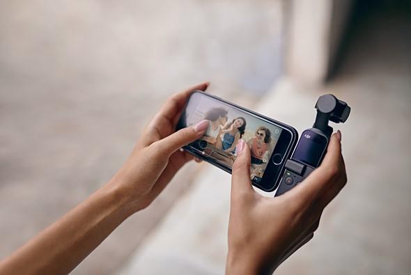 大疆发布 Osmo Pocket 口袋云台相机,支持连接 iPhone 拍摄