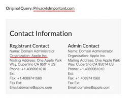 苹果注册全新域名,或将借此宣传其隐私保护政策