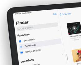 iOS 13 for iPad 渲染图:全功能访达、全新多任务以及深色模式