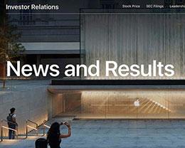 苹果改版投资者关系网站页面:便于访问财务数据