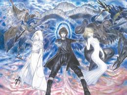 《最终幻想15》手游新作计划公布 天野喜孝创作海报亮相