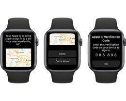 watchOS 6 全新功能:可作为受信任设备接受 Apple ID 验证码