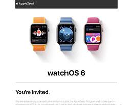苹果邀请部分 watchOS 6 用户参与 AppleSeed 项目