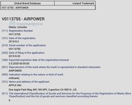 取消三个月的 AirPower 无线充电板或将复出,苹果重启商标化进程