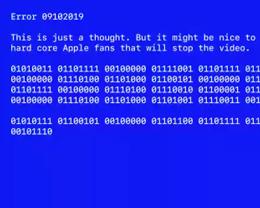 苹果宣传视频隐藏彩蛋:利用蓝屏页面宣告「我们爱你」