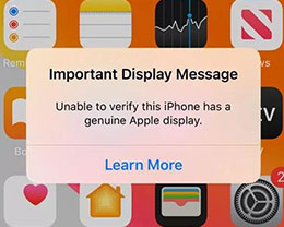 iOS 13.1加入原装屏幕检测机制,iPhone手机还能第三方维修吗?