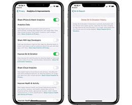 iOS 13.2beta中的删除Siri历史记录并停止分析怎么操作?