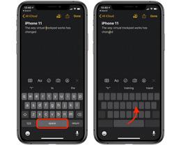 如何在 iPhone 11 及 iPhone 11 Pro 上使用键盘虚拟触控板?