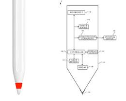 """苹果新专利:或为 Apple Pencil 增加指示色彩的""""柔性 OLED 显示屏"""""""