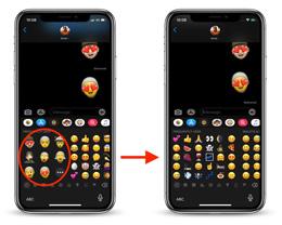 iOS 13.3 中,如何关闭键盘中的「拟我表情贴纸」选项?