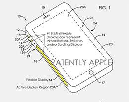 苹果获得 iPhone 侧面显示屏虚拟按键专利