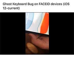 """苹果 Face ID 遇 Bug:部分用户解锁 iPhone 后出现""""鬼影键盘"""""""