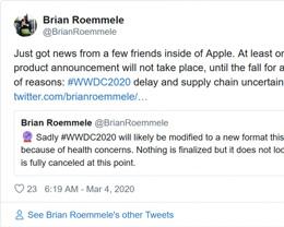 业内人士预测新冠疫情将迫使苹果至少推迟一款产品的发布时间