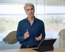 苹果高管 Craig Federighi 演示 iPad Pro 妙控键盘
