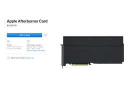 苹果的 Mac Pro Afterburner卡 现在可以单独购买