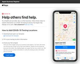 Apple Maps 将在地图上显示新冠病毒测试地点