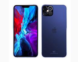 苹果 iPhone 12 Pro 午夜蓝渲染图曝光:不仅是刘海变小