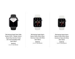 苹果官方翻新版 Apple Watch Series 5 开售