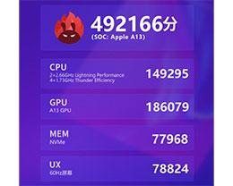 苹果新款 iPhone SE 性能如何?A13 仿生配 3GB 内存跑分近 50 万