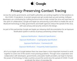 苹果和谷歌承诺将在大流行结束后将关闭接触者追踪软件