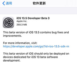 iOS 13.5 测试版_iOS 13.5 测试版一键刷机教程