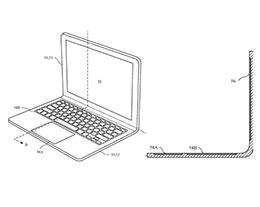 苹果新专利:未来 MacBook 可能采用一体成型、可弯曲的设计