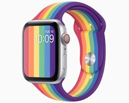苹果发布两款全新 Apple Watch 彩虹版表带