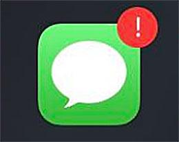 iPhone 信息应用总是有一个感叹号怎么办?