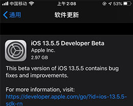iOS 13.5.5 测试版_iOS 13.5.5 测试版一键刷机教程