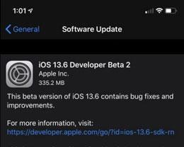 iOS 13.6 Beta 2更新内容及升级方法