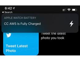 iOS 14 新功能:Apple Watch 充电完成后通知用户