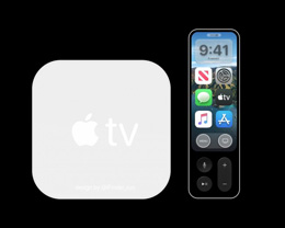 Apple TV 6 概念图曝光,采用白色外观设计遥控器带有显示屏