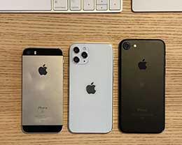 5.4 英寸 iPhone 12 大小如何?看看与 iPhone SE 和 7 的对比