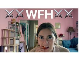 苹果分享视频:在家工作也很有趣!