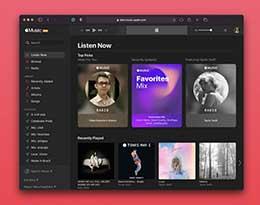 苹果重新设计网页版 Apple Music,iOS 14 风格加持