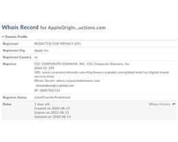 AppleOriginalProductions.com 域名已被苹果注册