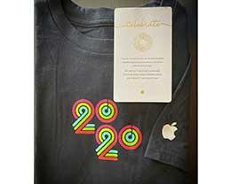 2020 苹果员工内部健身挑战奖励:T 恤和祝贺卡片