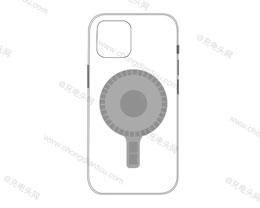 疑似苹果 iPhone 12 官方磁吸无线充电保护壳曝光